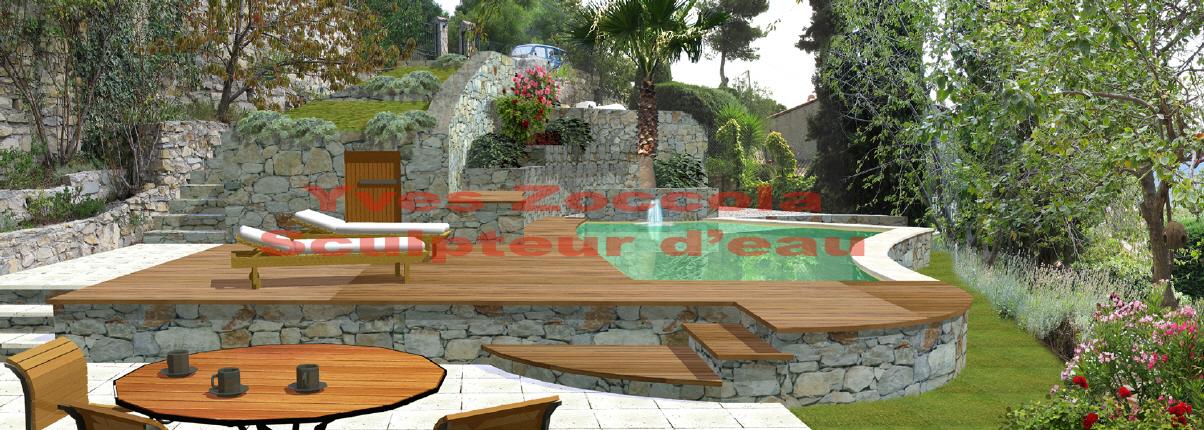 Piscine piscines formes libres - Piscine forme libre avec plage ...
