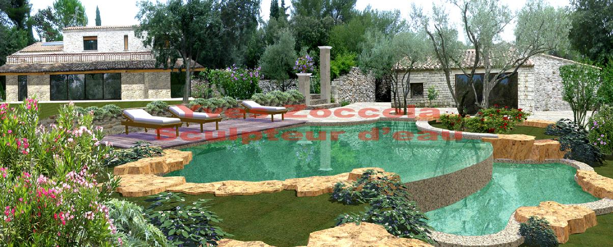 Piscine piscines formes libres for Piscine petit bassin