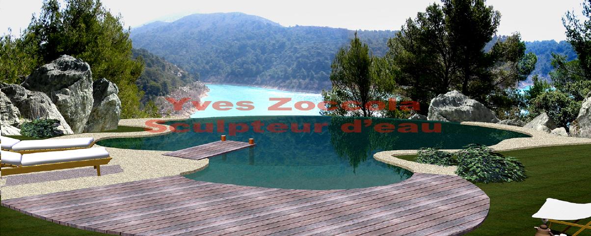 Piscine piscines naturelles for Piscine forme libre avec plage 3 plage immergee et piscine diffazur piscines
